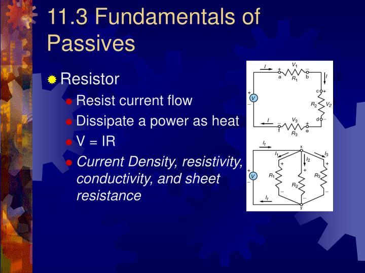 11.3 Fundamentals of Passives