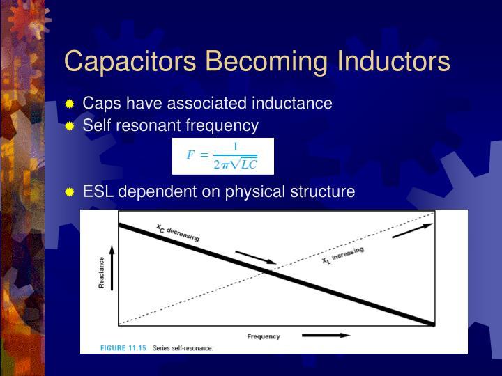 Capacitors Becoming Inductors