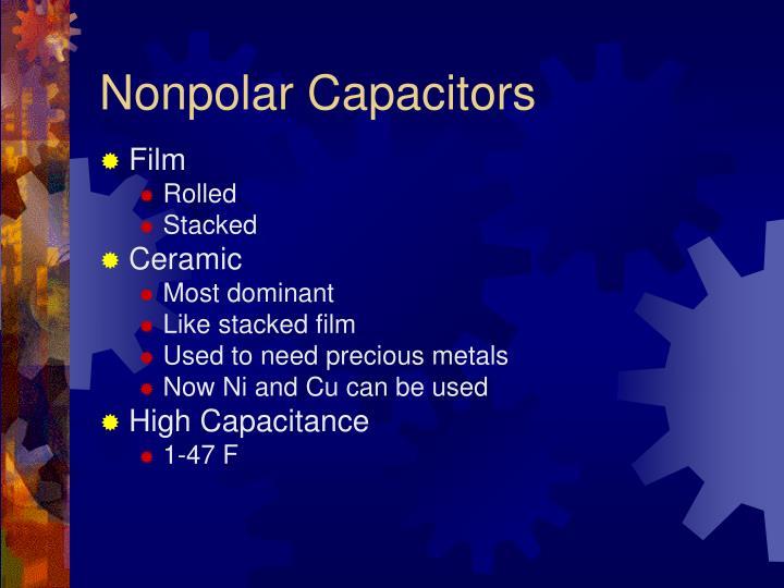 Nonpolar Capacitors