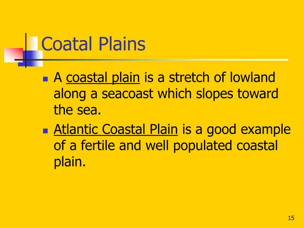 Coatal Plains