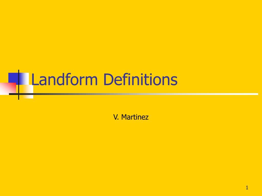 Landform Definitions