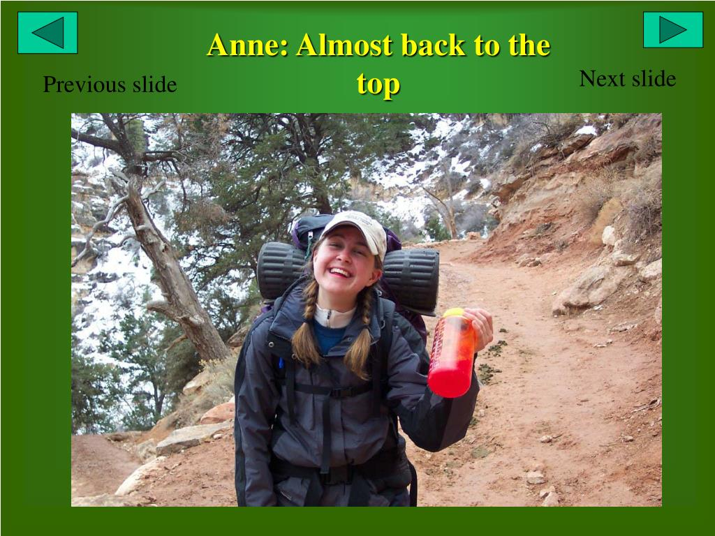 Anne: Almost back to the top