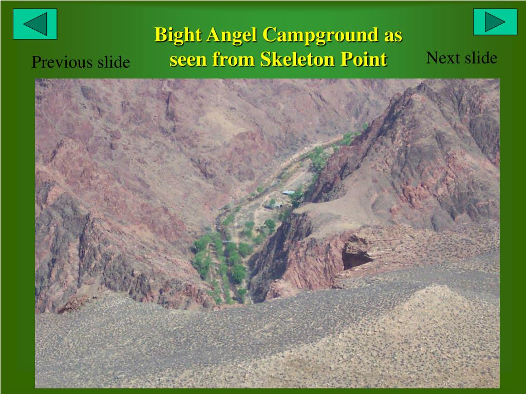 Bight Angel Campground as seen from Skeleton Point