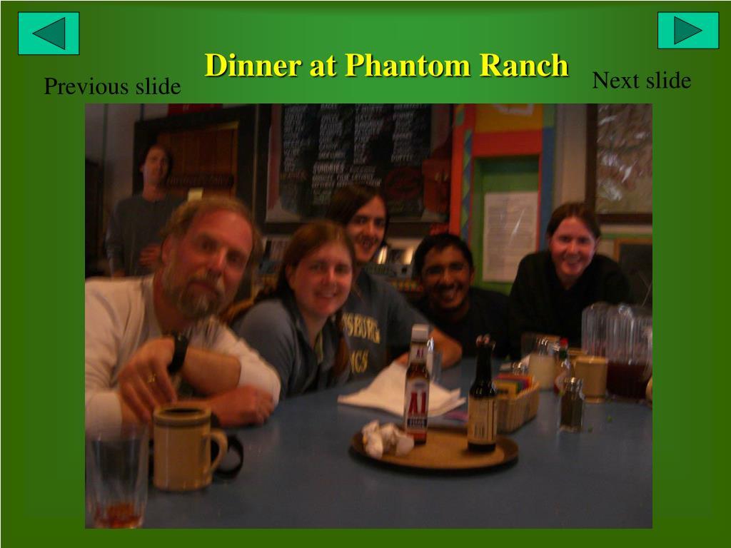 Dinner at Phantom Ranch