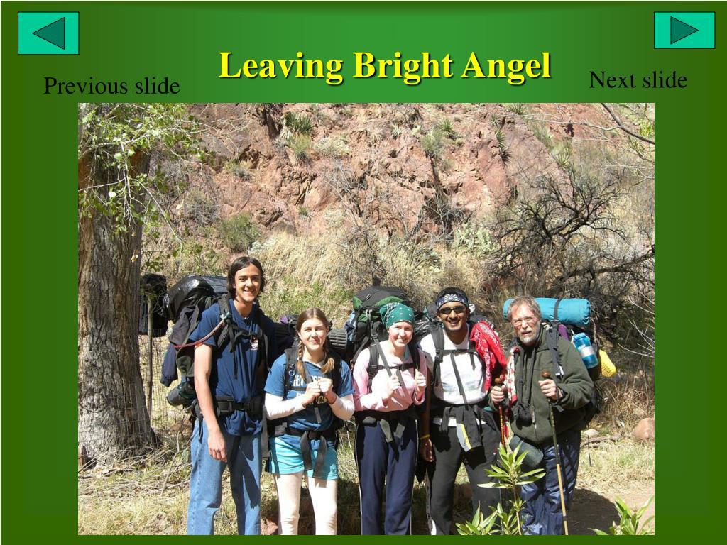 Leaving Bright Angel