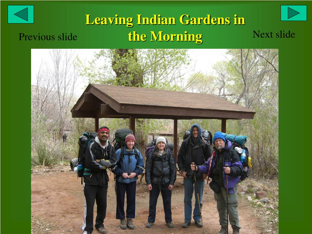 Leaving Indian Gardens in the Morning