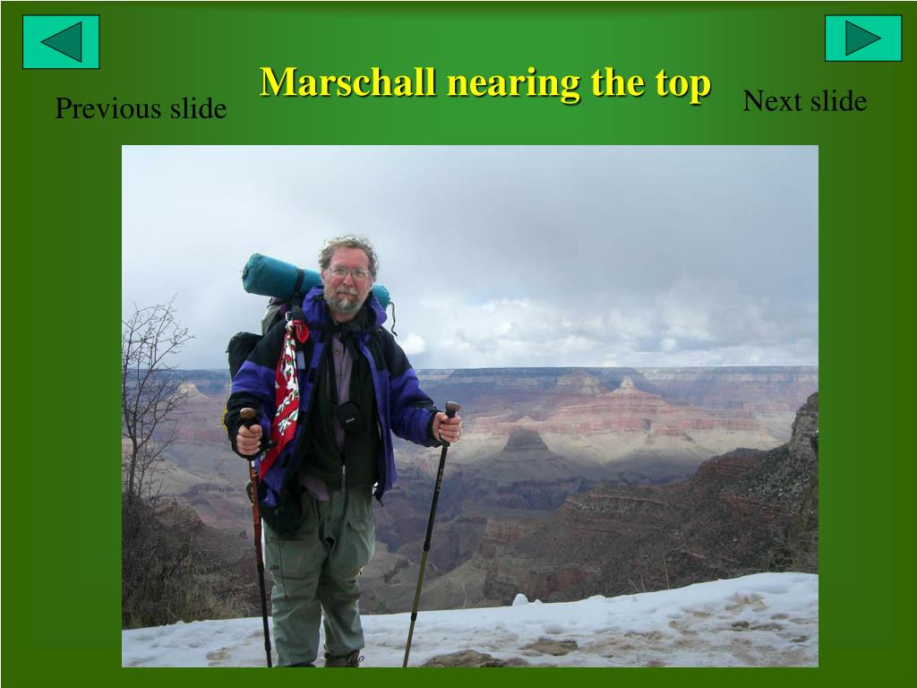 Marschall nearing the top