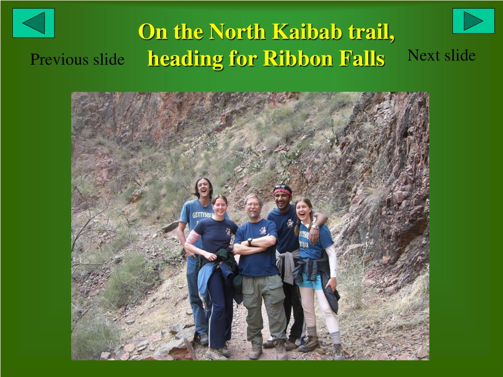 On the North Kaibab trail, heading for Ribbon Falls