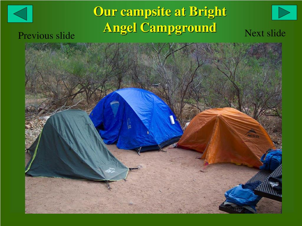 Our campsite at Bright Angel Campground