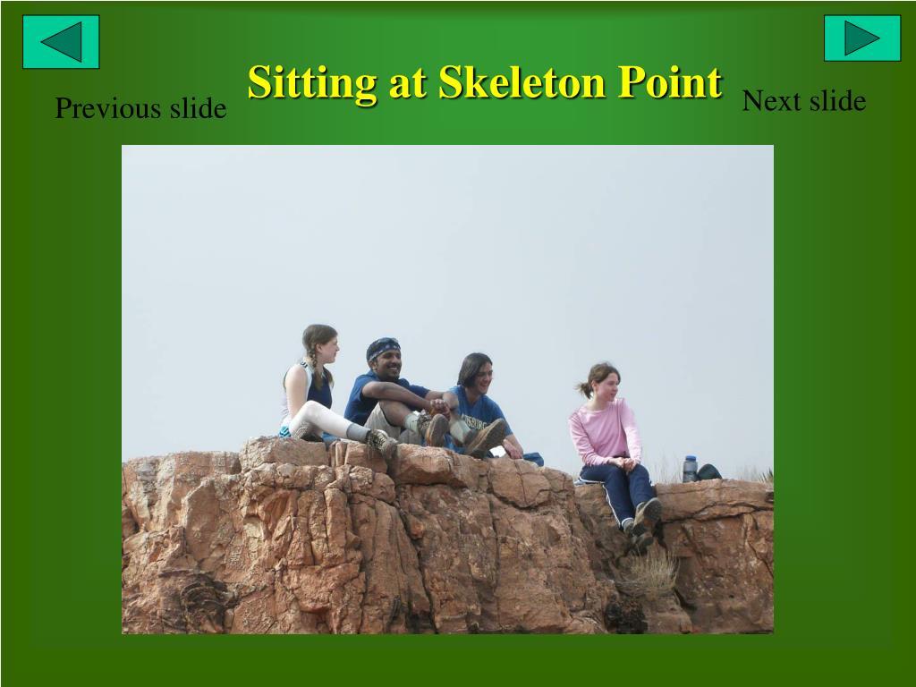 Sitting at Skeleton Point