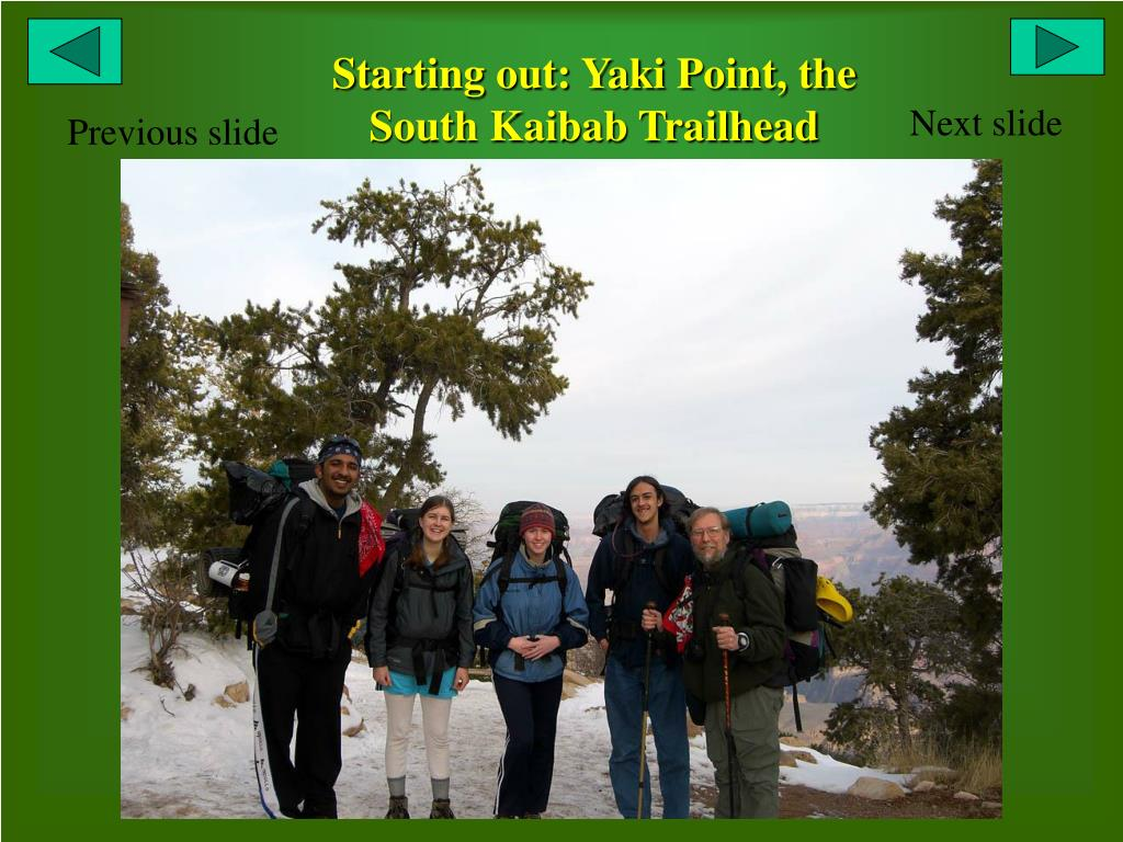 Starting out: Yaki Point, the South Kaibab Trailhead