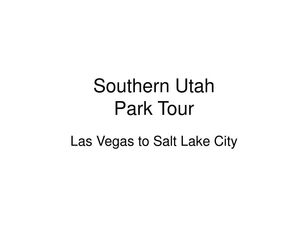 southern utah park tour