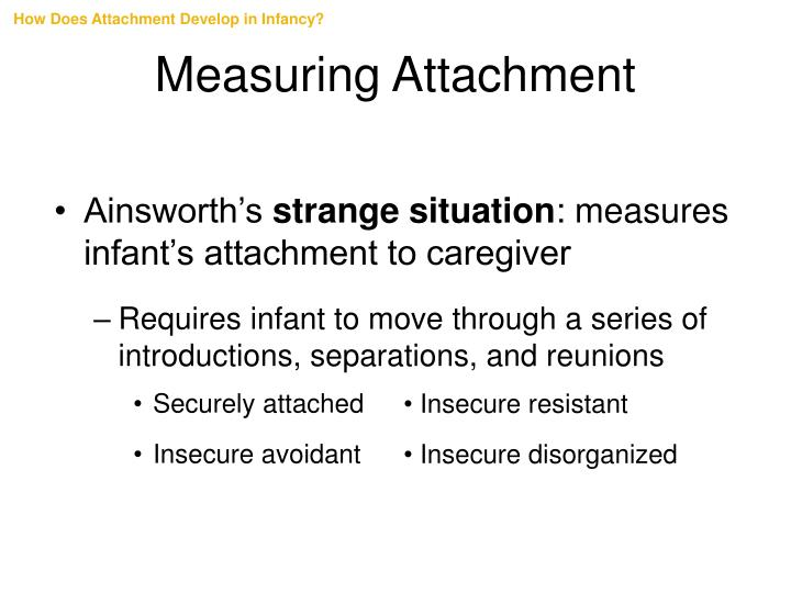 How Does Attachment Develop in Infancy?
