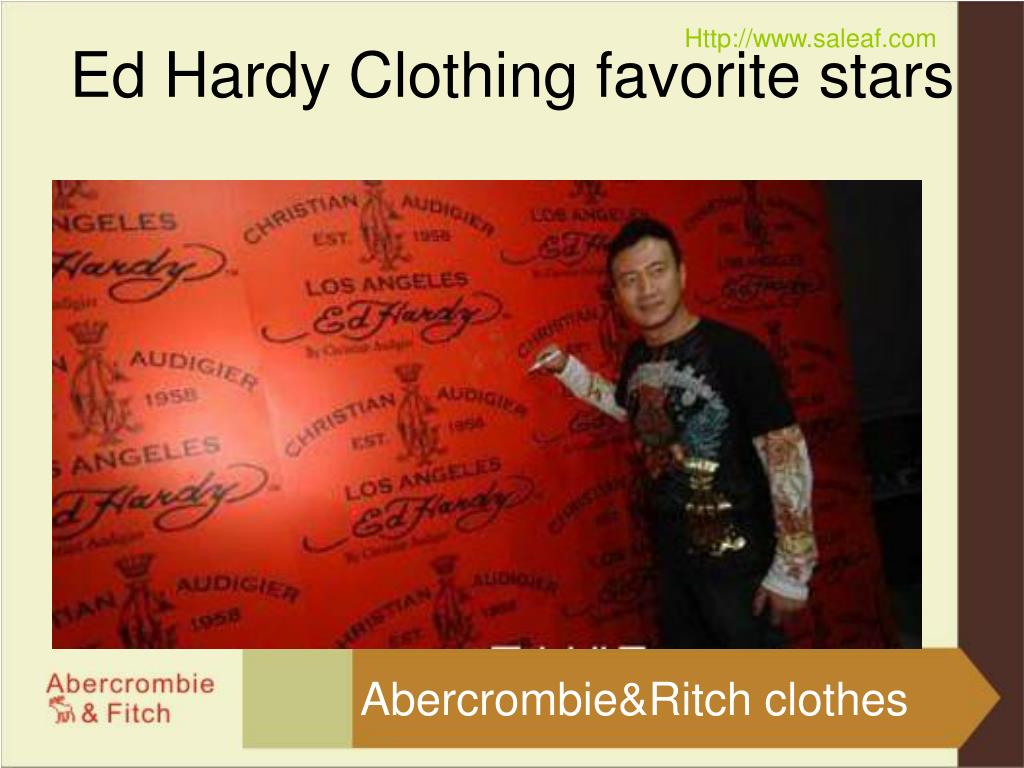 Ed Hardy Clothing favorite stars