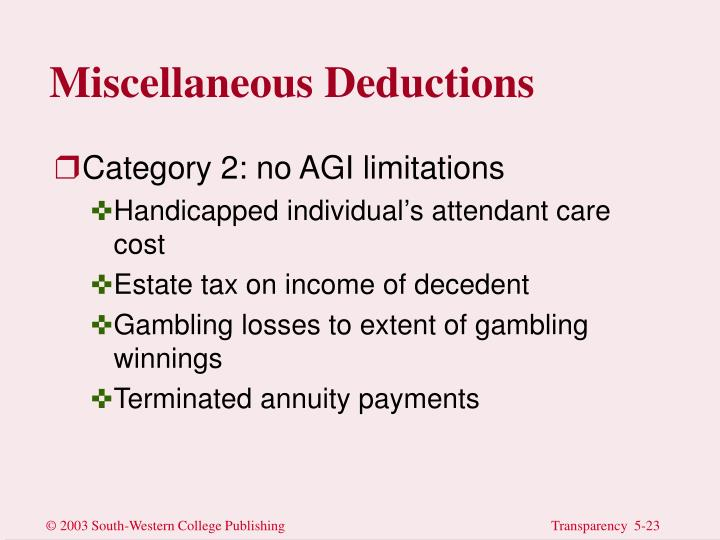 Miscellaneous Deductions