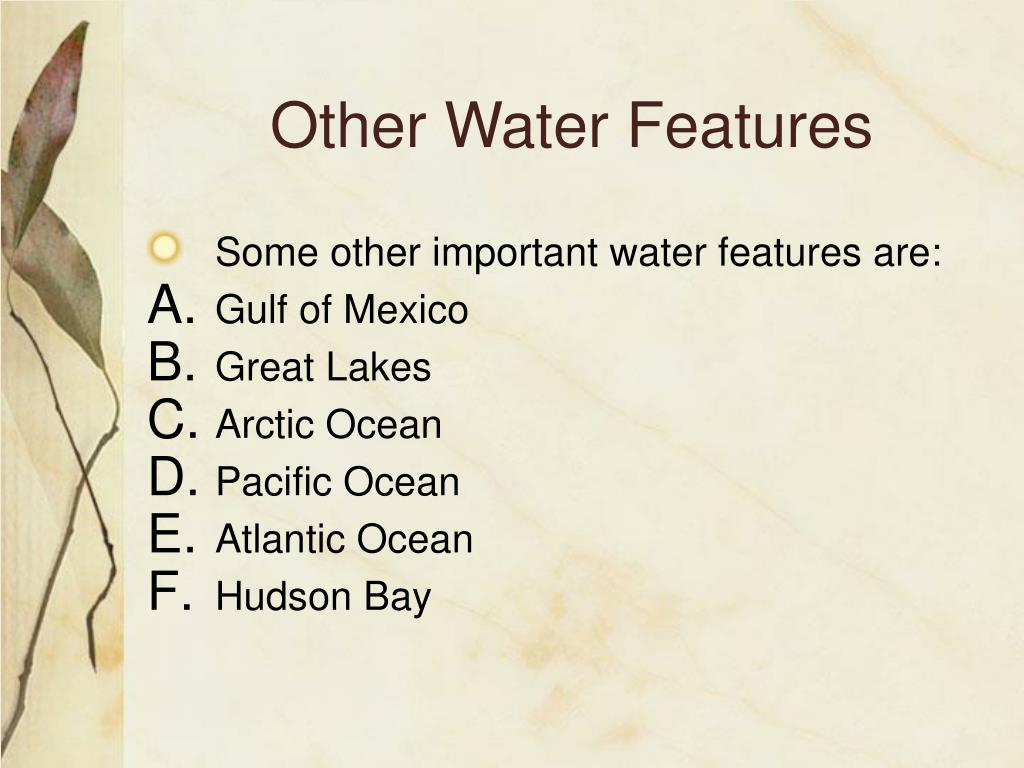 Other Water Features