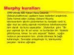 murphy kurallar