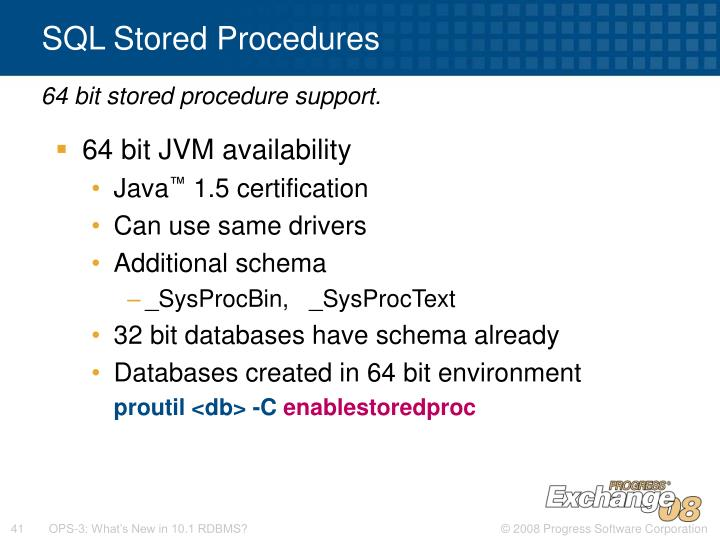 SQL Stored Procedures
