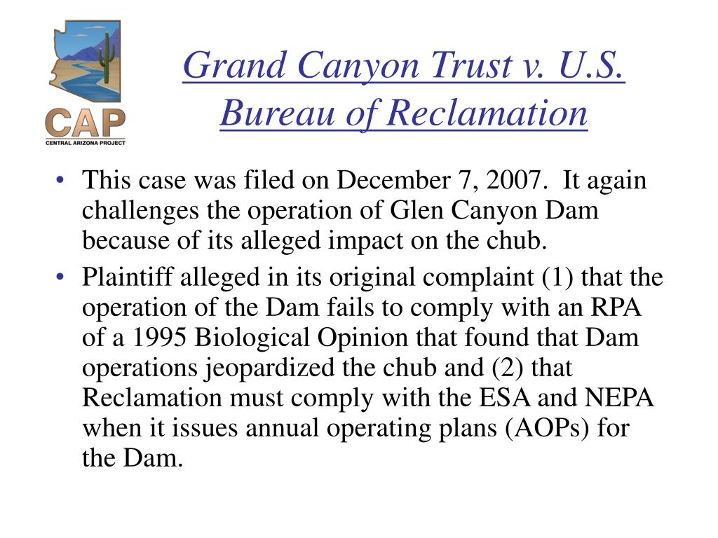 Grand Canyon Trust v. U.S. Bureau of Reclamation