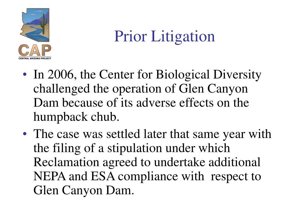 Prior Litigation