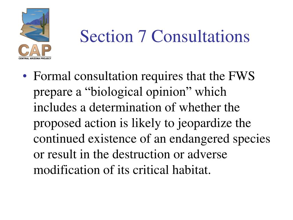Section 7 Consultations