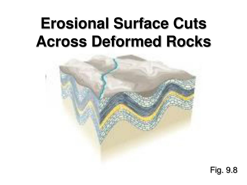 Erosional Surface Cuts Across Deformed Rocks
