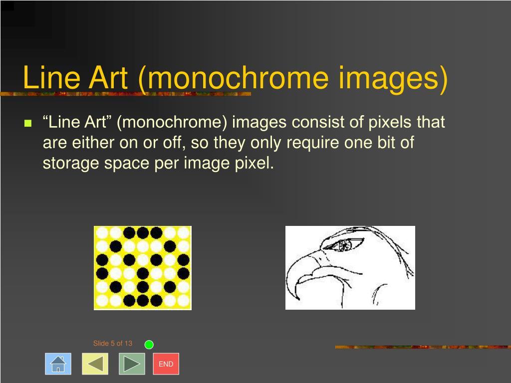 Line Art (monochrome images)