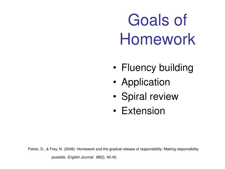 Goals of Homework