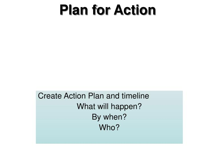 Plan for Action