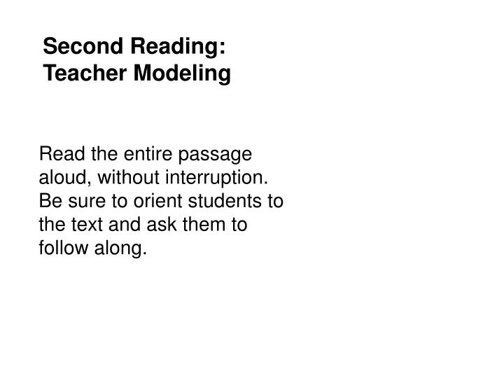 Second Reading: