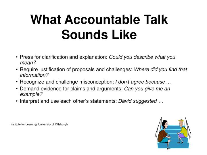 What Accountable Talk Sounds Like
