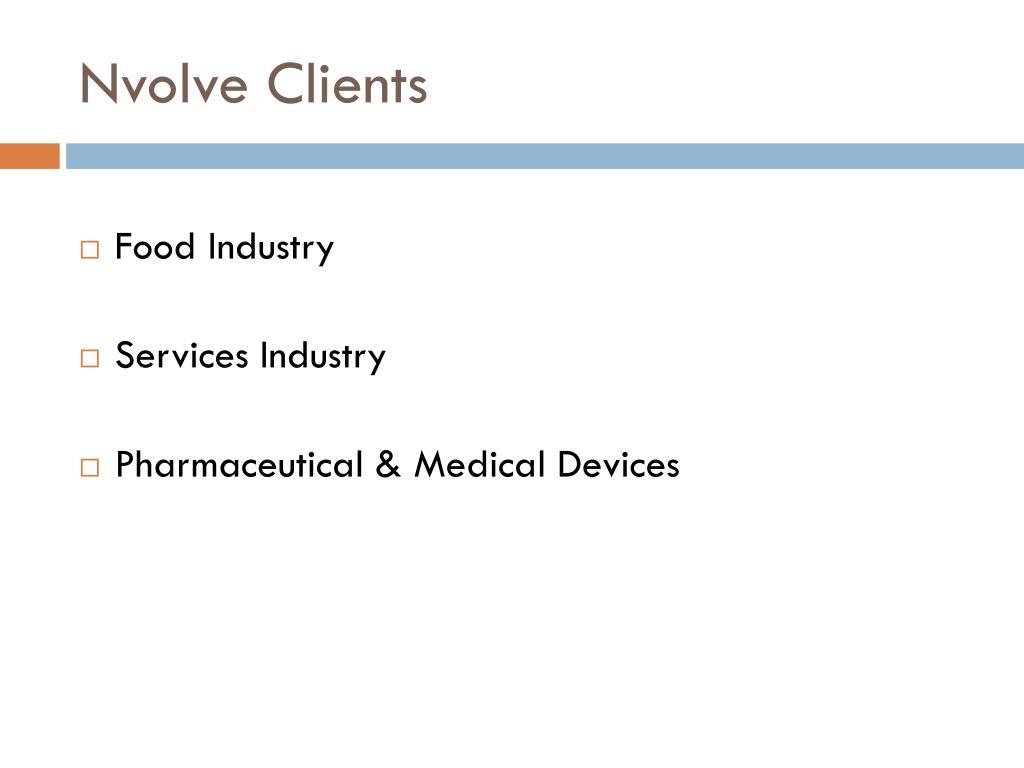 Nvolve Clients