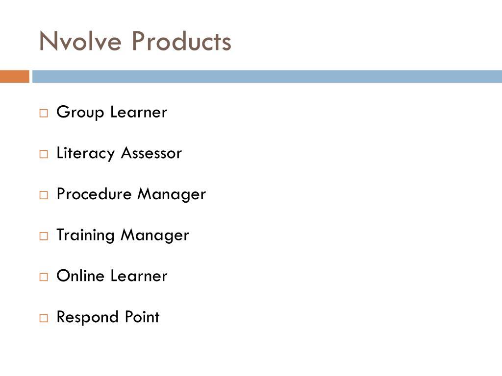 Nvolve Products