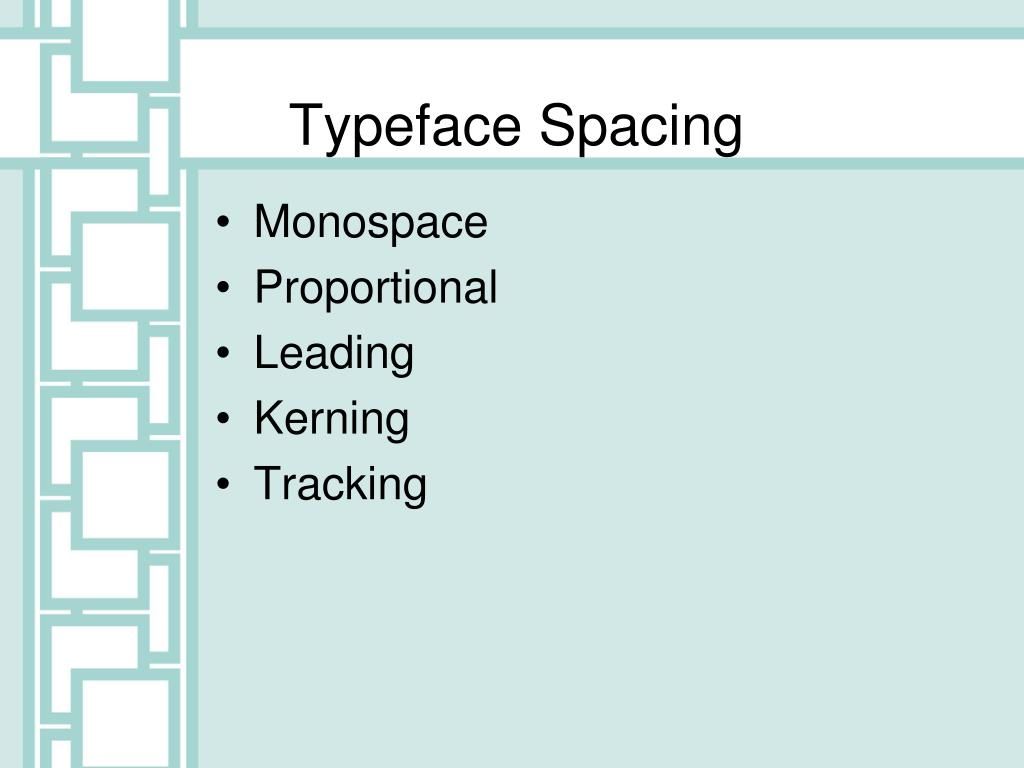 Typeface Spacing