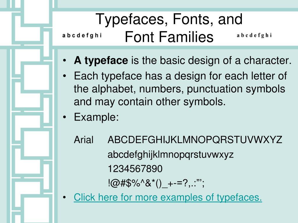 A typeface