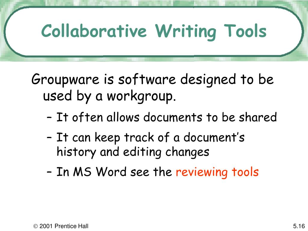 Collaborative Writing Tools