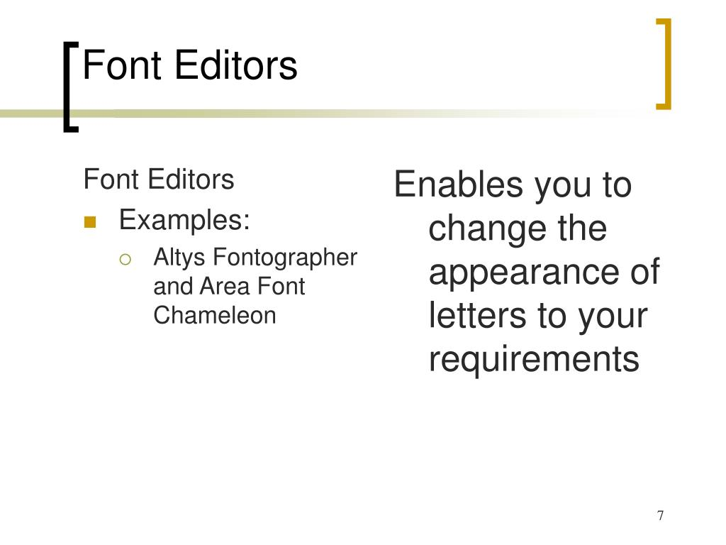 Font Editors