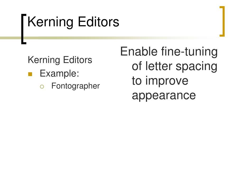 Kerning Editors