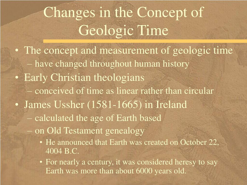 Changes in the Concept of Geologic Time