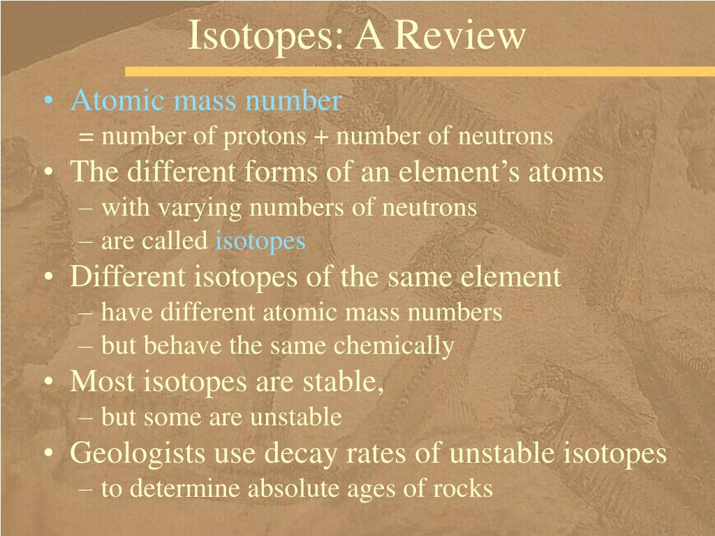 Isotopes: A Review