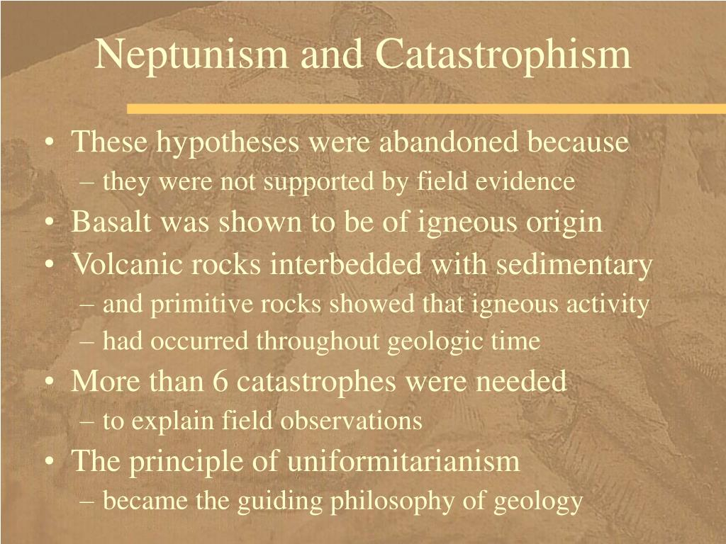 Neptunism and Catastrophism