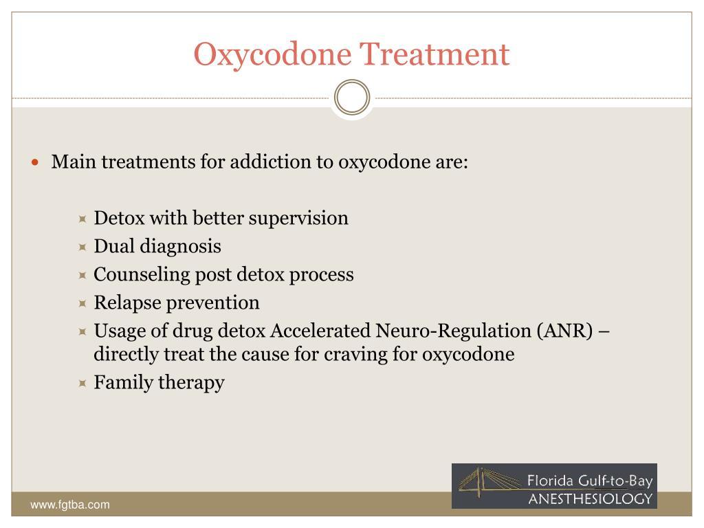 Oxycodone Treatment