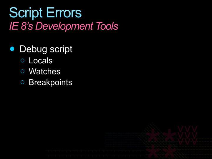 Script Errors