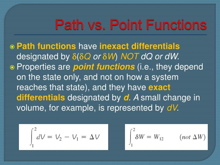 Path vs. Point Functions