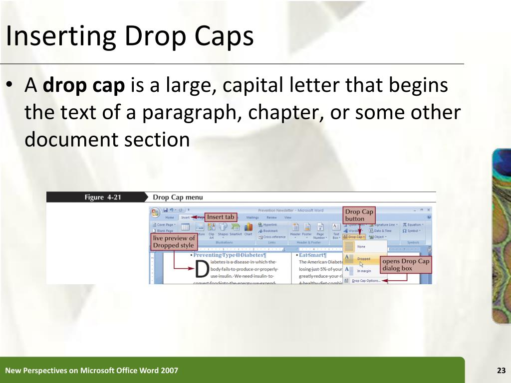 Inserting Drop Caps