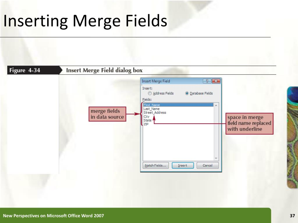 Inserting Merge Fields