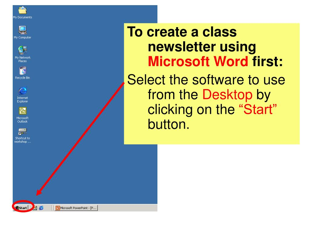 To create a class newsletter using
