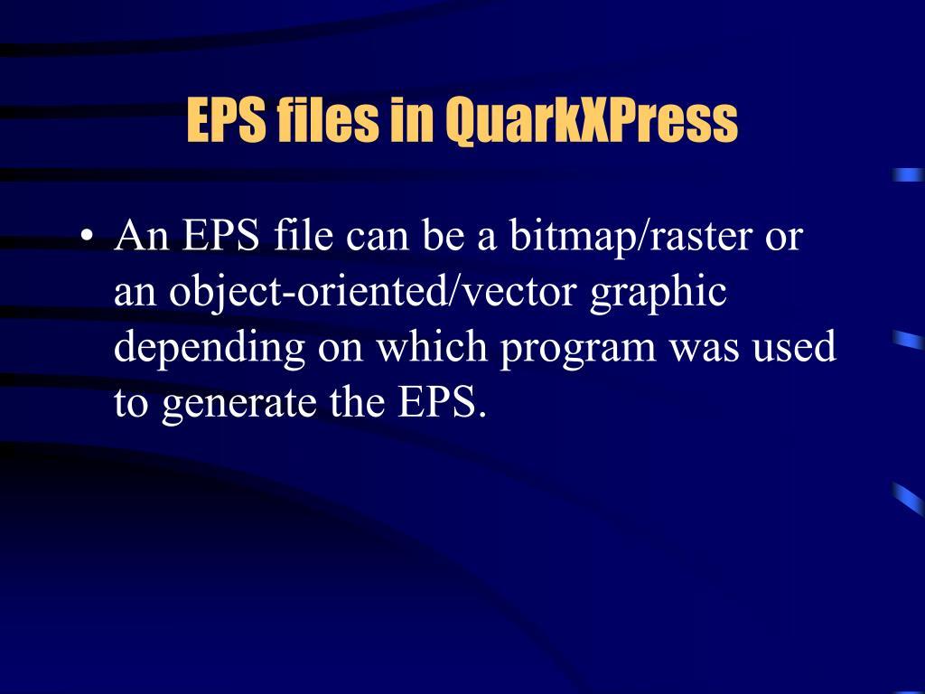 EPS files in QuarkXPress