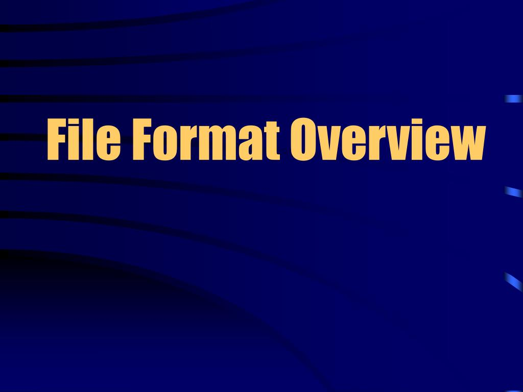 File Format Overview