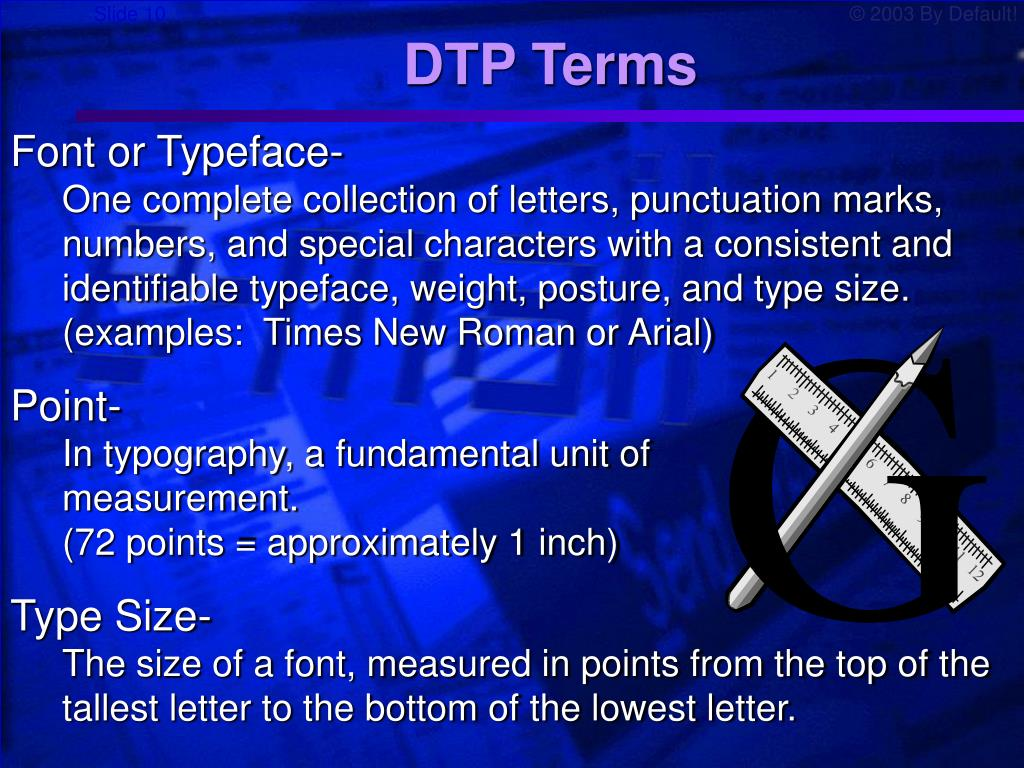 DTP Terms